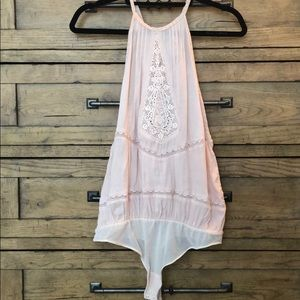 Free People Light Pink Lace One Piece
